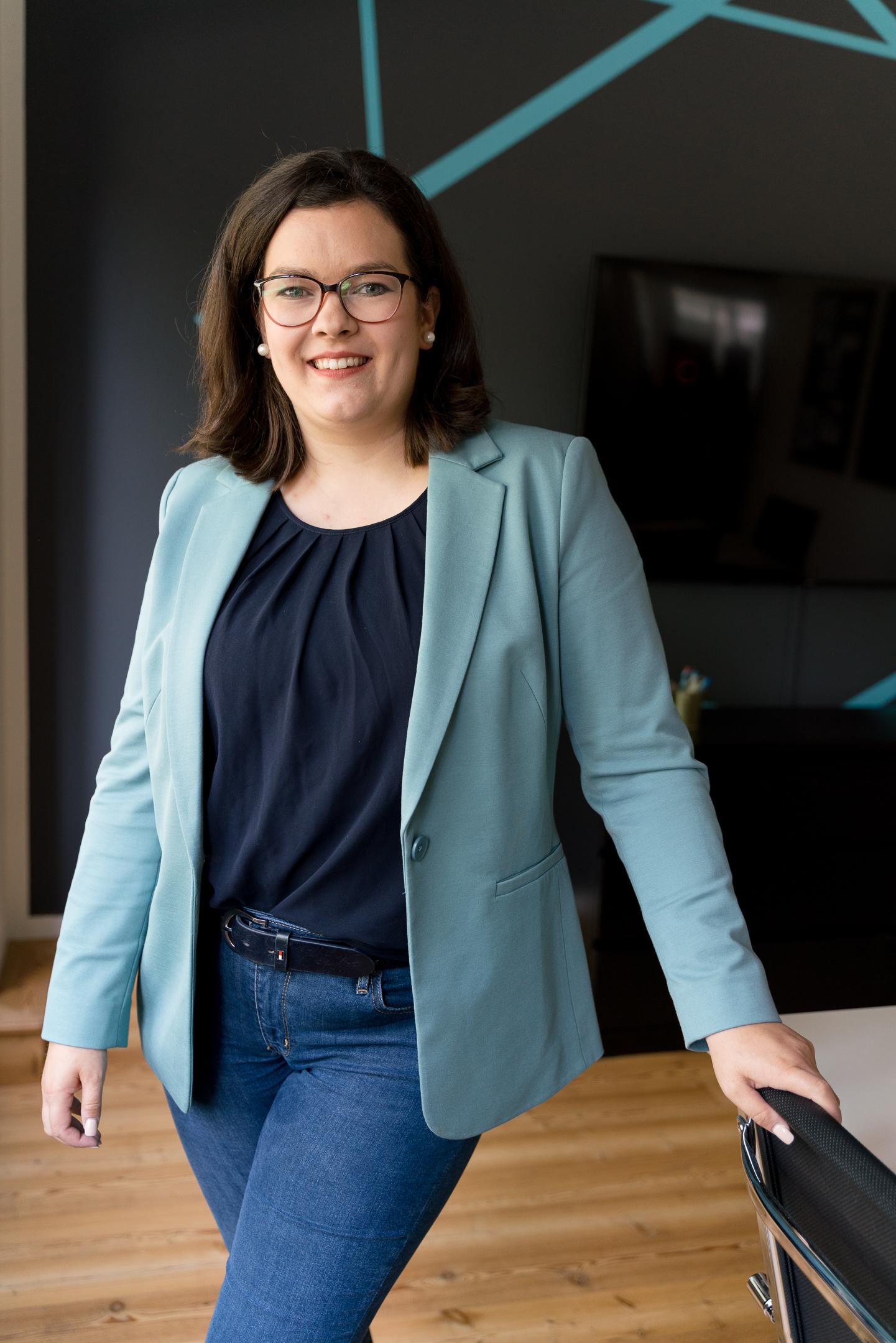 """Anja van Wahden_Inhaberin und Mitgründerin des Coworking-Spaces """"Work Kontor"""" in Ahrensburg"""