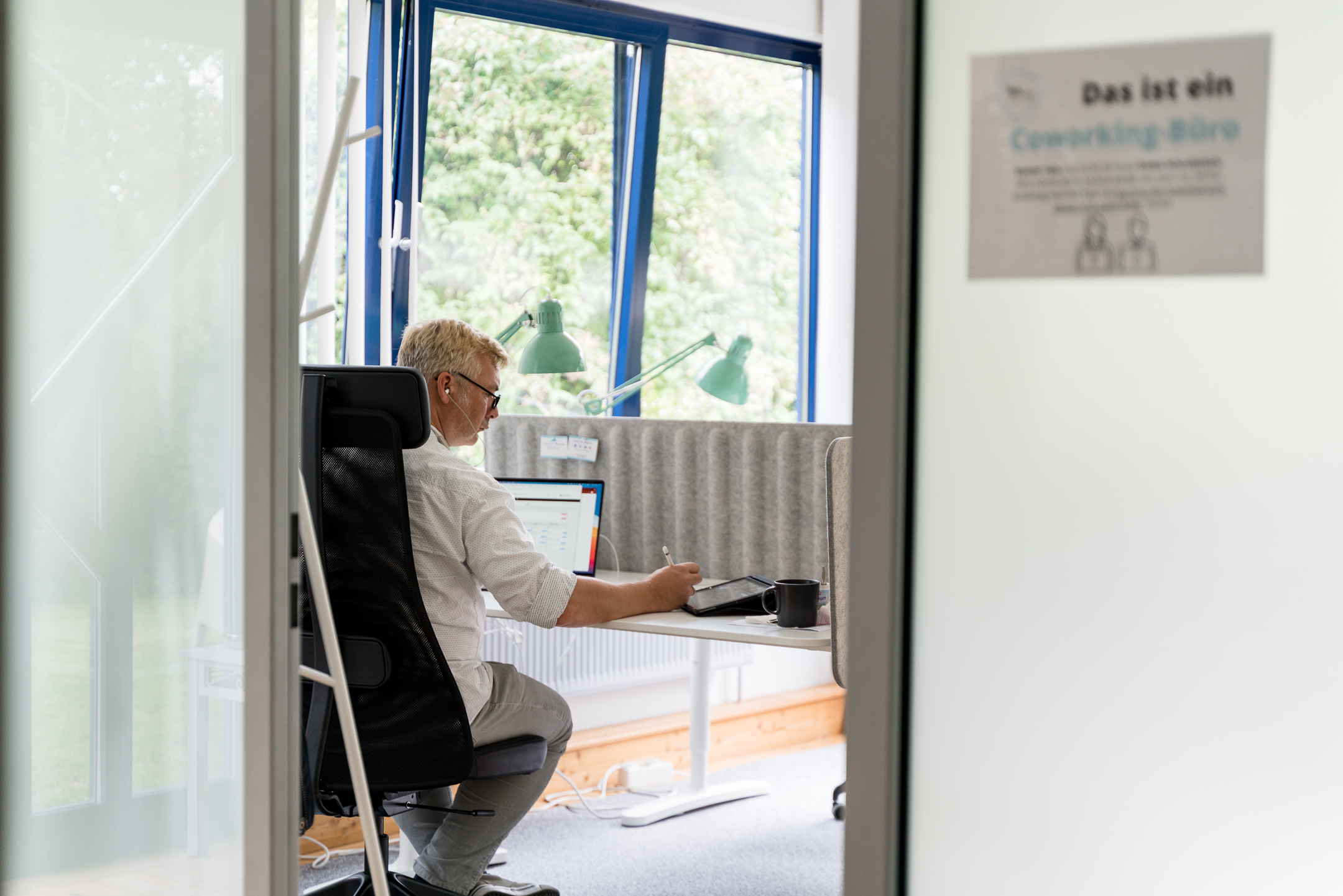 Produktives und fokussiertes Arbeiten im Work Kontor_Coworking-Space in Ahrensburg